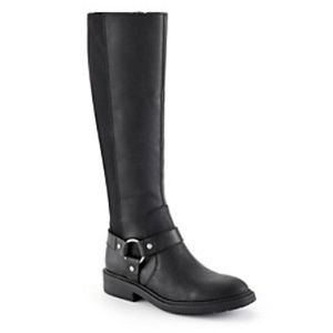 Nine West Casual Tall Boots Black 9.5 Buckle